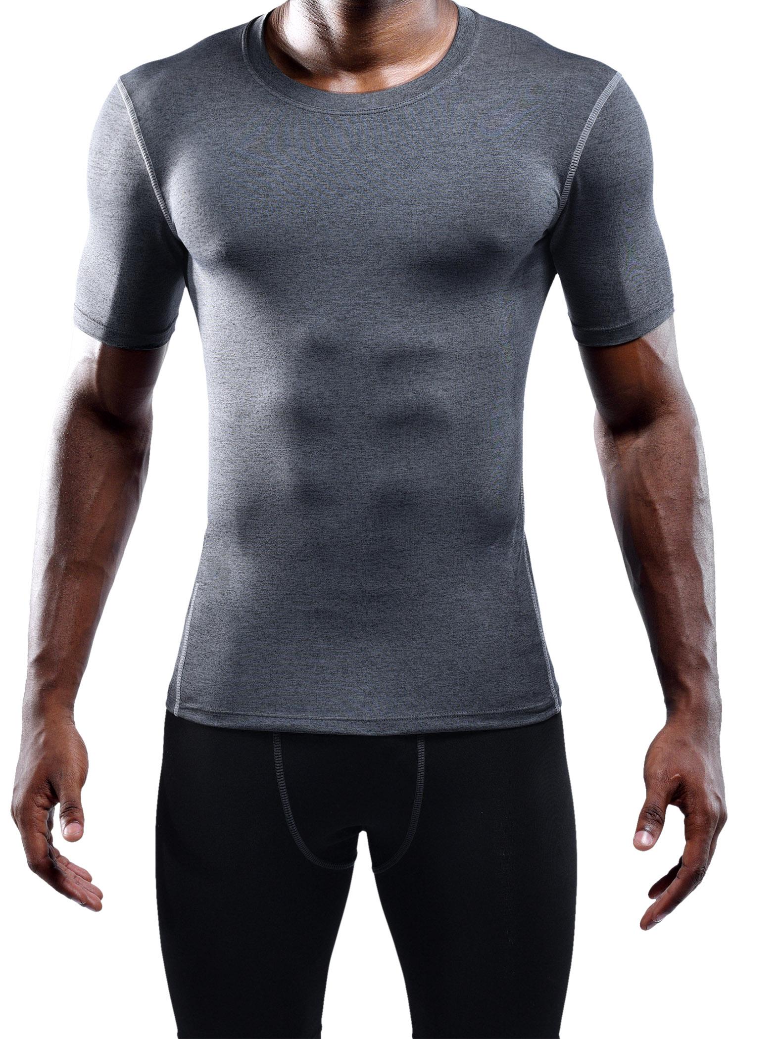 a60e9b6613e0 Neleus Men's 3 Pack Athletic Compression Under Base Layer Sport Shirt DT0003